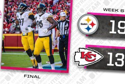 Bell atropela, Steelers vencem e acabam com invencibilidade dos Chiefs - The Playoffs