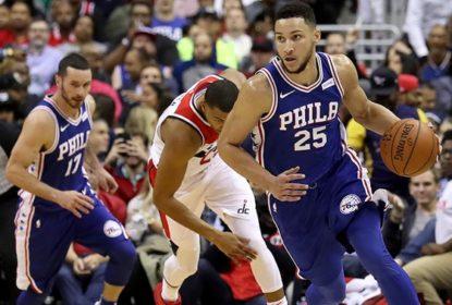 Washington Wizards vence Philadelphia 76ers, com boas atuações de Wall, Beal e Gortat - The Playoffs