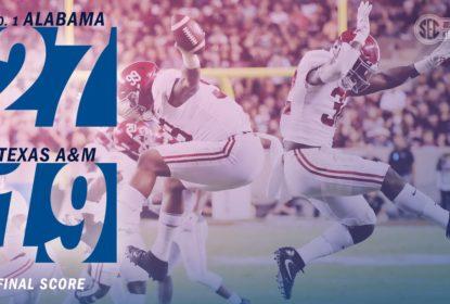 Alabama Crimson Tide segura Texas A&M no fim e segue invicta - The Playoffs