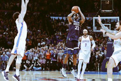 Com bola vencedora de Wiggins, Wolves derrotam Thunder fora de casa - The Playoffs