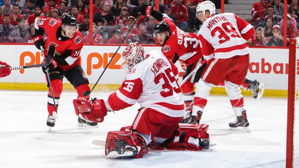 Detroit Red Wings vence Ottawa Senators no shootout