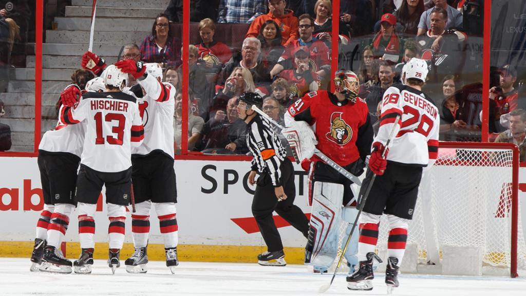 Na prorrogação, Devils superam Senators