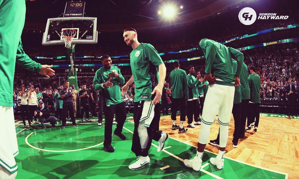 Hayward entra em quadra pelos Celtics