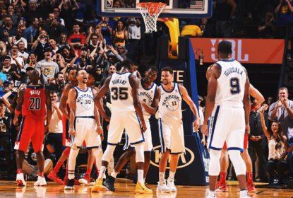 Warriors vencem de virada em jogo emocionante contra os Wizards - The Playoffs
