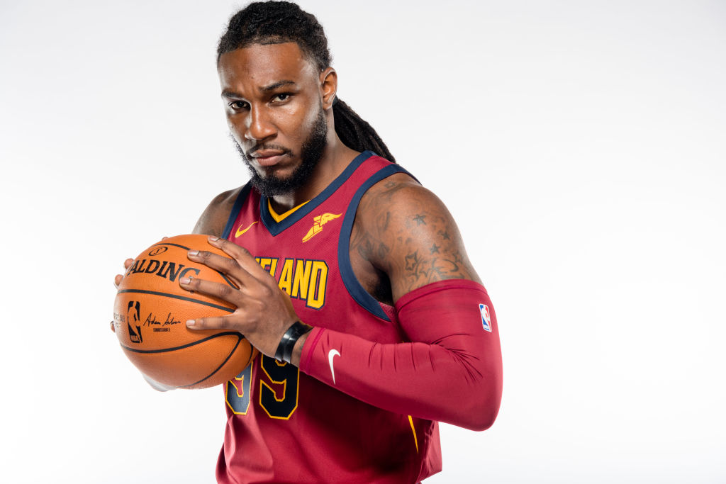 INDEPENDENCE, OH - SEPTEMBER 25: Jae Crowder #99 of the Cleveland Cavaliers poses during media day at Cleveland Clinic Courts on September 25, 2017 in Independence, Ohio