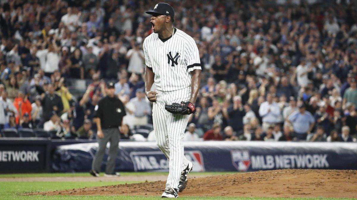 Luis Severino pode voltar ao montinho do New York Yankees em breve. Ele participou de uma simulação de jogo nesta sexta-feira (17), antes da partida do time frente ao Cleveland Indians no Yankee Stadium.