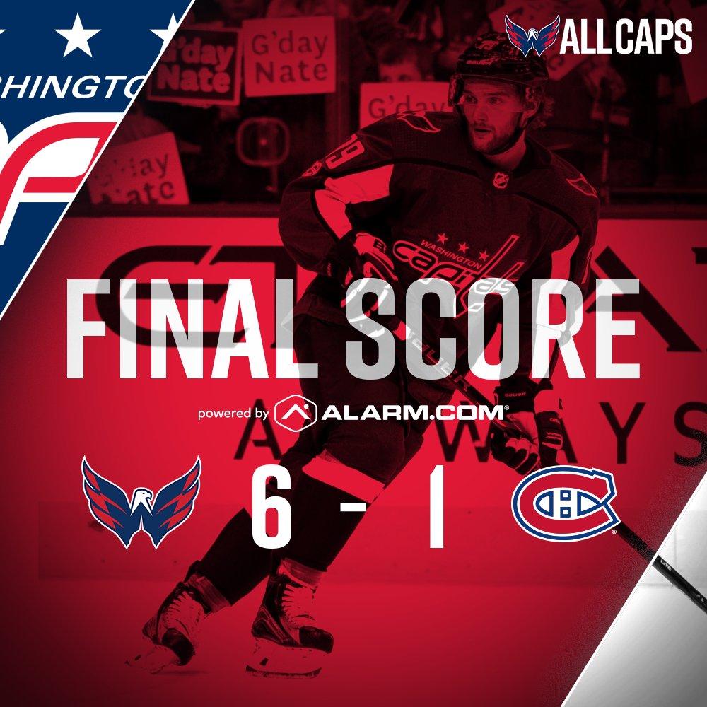 Com show de Ovechkin, Washington Capitals goleiam Montreal Canadiens