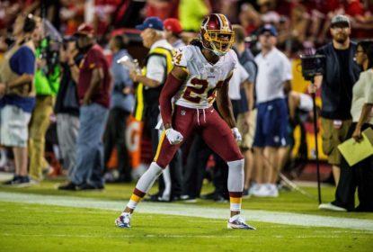 Josh Norman, do Washington Redskins, sofreu lesãodurante partida do Monday NIght Football na Semana 4, diantes do Kansa City Chiefs, na NFL 2017..