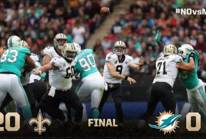 Em jogo de baixo nível técnico, New Orleans Saints bate Miami Dolphins em Wembley - The Playoffs