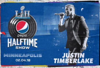 13 anos após polêmica, Justin Timberlake é confirmado no Show do Intervalo do Super Bowl LII - The Playoffs