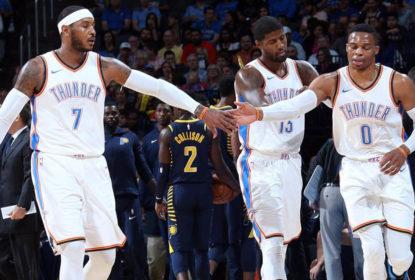 Após quarta derrota consecutiva, elenco do Oklahoma City Thunder faz reunião interna - The Playoffs