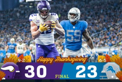 Com emoção no fim, Minnesota Vikings bate Detroit Lions - The Playoffs