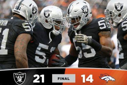 Em jogo marcado por briga, Raiders vencem Broncos e seguem vivos na temporada - The Playoffs