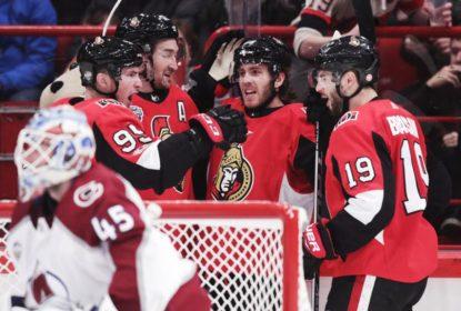 Hoffman marca duas vezes e lidera Senators à vitória contra Avalanche - The Playoffs