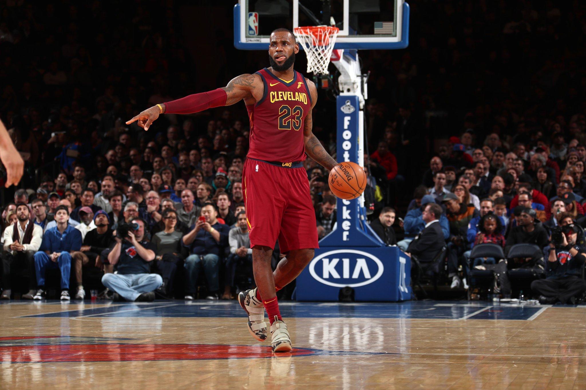 LeBron comanda virada dos Cavaliers contra os Knicks