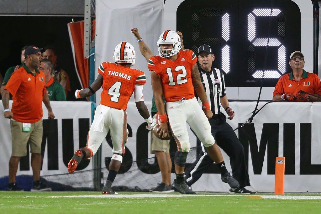 Miami Hurricanes conseguiu uma grande vitória na semana 11 do college football sobre Notre Dame