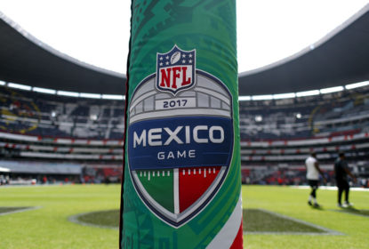 MEXICO CITY, MEXICO - NOVEMBER 19: A detail view of Estadio Azteca prior to the game between the New England Patriots and the Oakland Raiders on November 19, 2017 in Mexico City, Mexico.