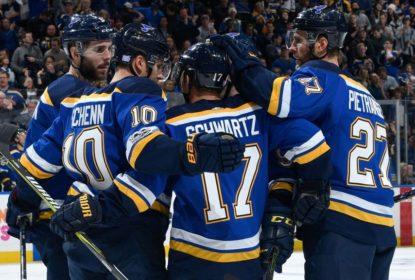 Jogando em St. Louis, Blues fazem oito gols e dominam Oilers - The Playoffs