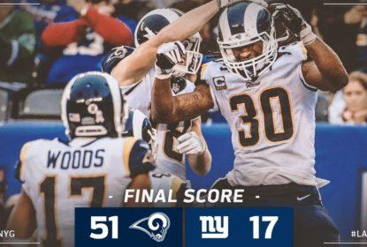 Jared Goff brilha, e Rams massacram os Giants no Metlife Stadium - The Playoffs