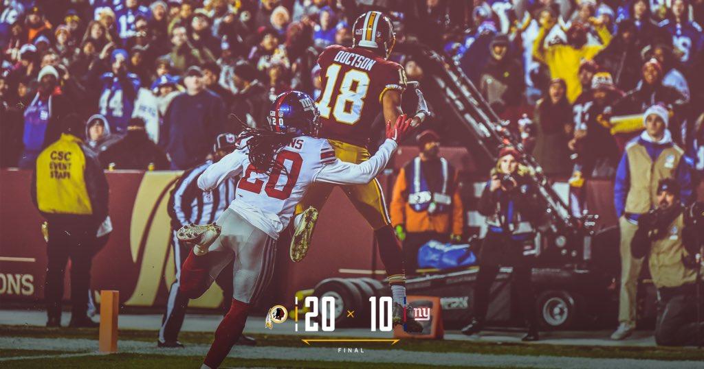 Em jogo sem brilho, Redskins derrotam Giants no Thanksgiving - The Playoffs