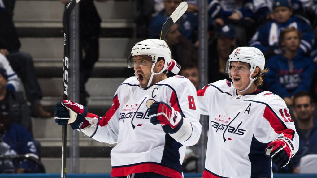 Ovechkin anota 20º hat trick da carreira e Capitals vencem Maple Leafs