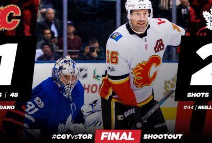 Em partida emocionante, Maple Leafs vencem Flames - The Playoffs