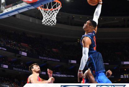 Oklahoma City Thunder vence o Philadelphia 76ers após três prorrogações - The Playoffs