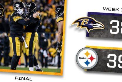 Steelers batem Ravens em jogo emocionante e garantem a AFC North - The Playoffs