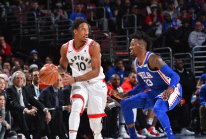 DeRozan faz partida da carreira e Raptors vencem Sixers fora de casa - The Playoffs