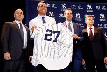 Apresentado nos Yankees, Stanton revela que foi 'ameaçado' pelos Marlins - The Playoffs