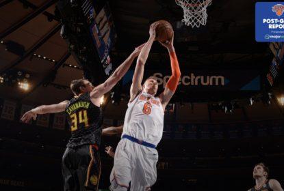 Com 30 pontos de Porzingis, Knicks triunfam sobre Hawks - The Playoffs