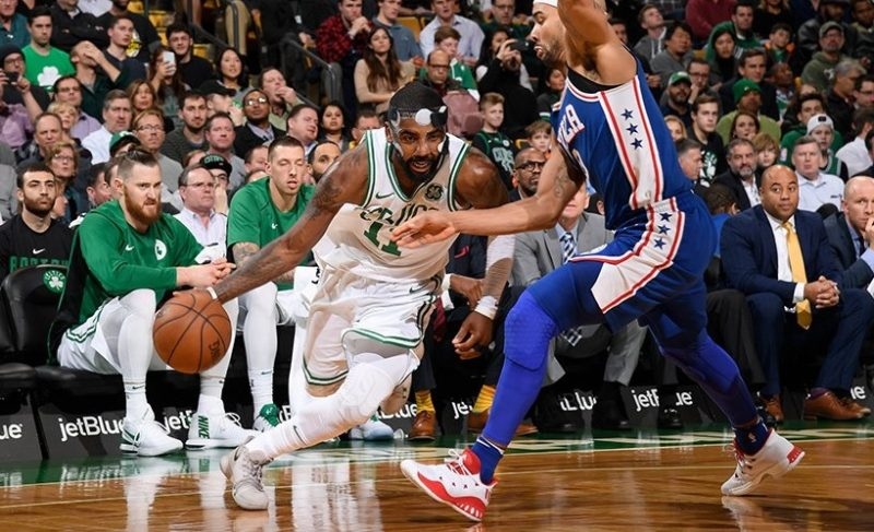 Kyrie Irving lidera Boston Celtics contra o Philadelphia 76ers