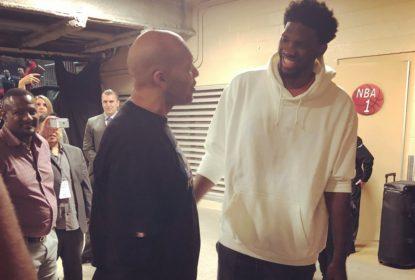 Encontro, provocação e previsão de futuro: LaVar Ball e Joel Embiid dão show nos bastidores de Lakers vs Sixers - The Playoffs