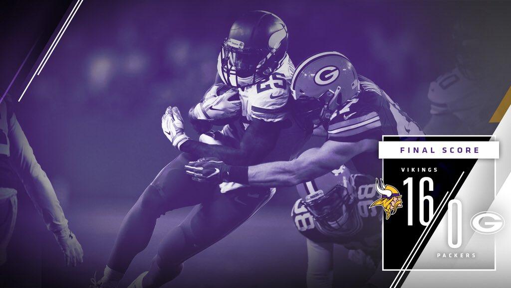 Minnesota Vikings conquista primeiro shutout sobre Green Bay Packers desde 1971 e varre séries contra rival