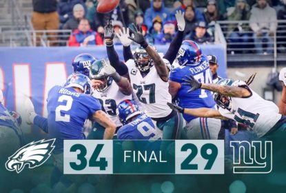 Na primeira partida sem Carson Wentz, Philadelphia Eagles vence New York Giants - The Playoffs