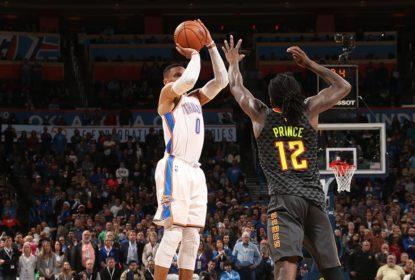 Russell Westbrook acerta de três no último segundo e Thunder vence Hawks - The Playoffs