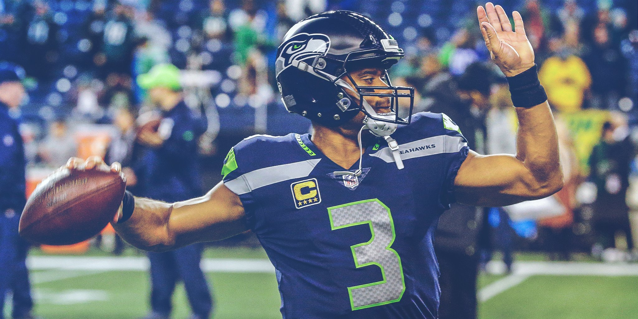 Russell Wilson na vitória do Seattle Seahawks sobre o Philadelphia Eagles