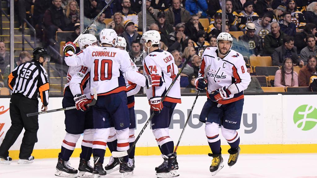 Capitals vencem em Boston e ampliam freguesia contra Bruins