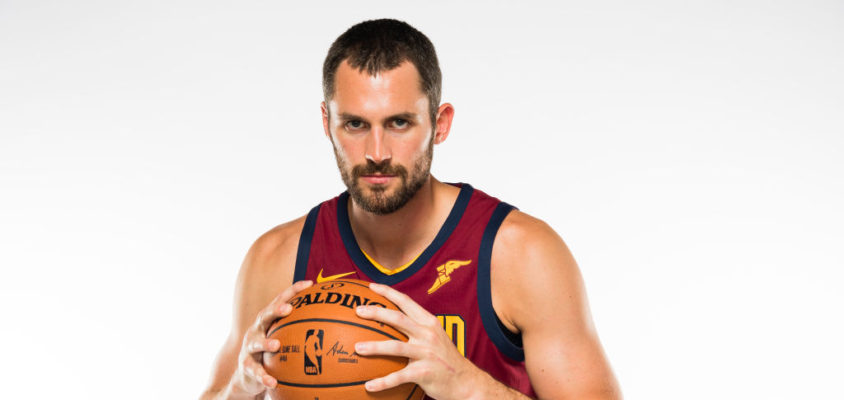 INDEPENDENCE, OH - SEPTEMBER 25: Kevin Love #0 of the Cleveland Cavaliers at Cleveland Clinic Courts on September 25, 2017 in Independence, Ohio