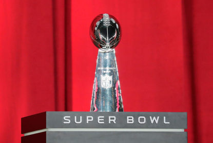 HOUSTON, TX - JANUARY 30: The Vince Lombardi Trophy is seen onstage during Super Bowl 51 Opening Night at Minute Maid Park on January 30, 2017 in Houston, Texas.