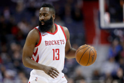 WASHINGTON, DC - DECEMBER 29: James Harden #13 of the Houston Rockets dribbles the ball against the Washington Wizards at Capital One Arena on December 29, 2017 in Washington, DC