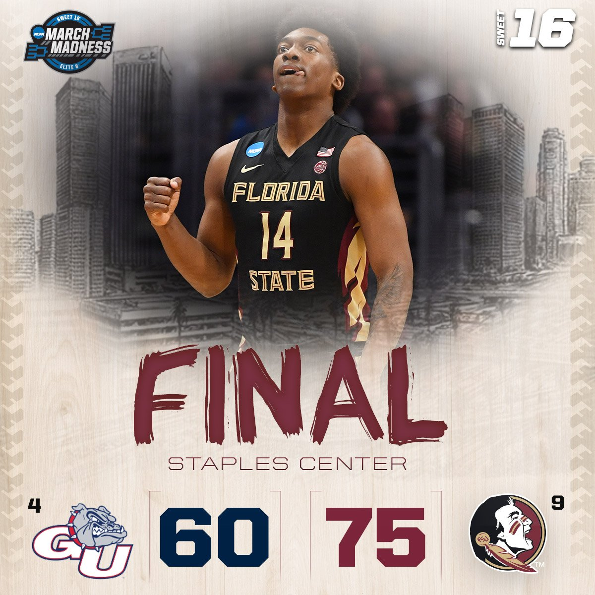 Florida State vence Gonzaga e volta ao Elite Eight após 25 anos - The Playoffs