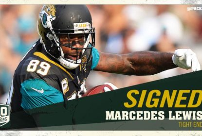 Marcedes Lewis assina com o Green Bay Packers - The Playoffs