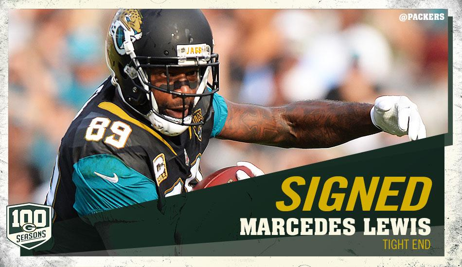 Marcedes Lewis assina com o Green Bay Packers