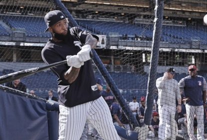 Odell Beckham Jr. participa de treino de rebatidas dos Yankees - The Playoffs