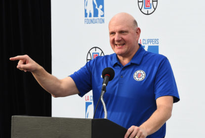 LOS ANGELES, CA- JANUARY 16: Steve Ballmer of the LA Clippers Foundation teams up With Vision To Learn to provide free eye exams and glasses to every LAUSD student in need in Los Angeles, California