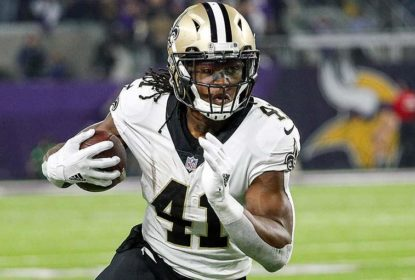Running back do New Orleans Saints Alvin Kamara deve ter pontuação alta na primeira semana do Fantasy Football da NFL