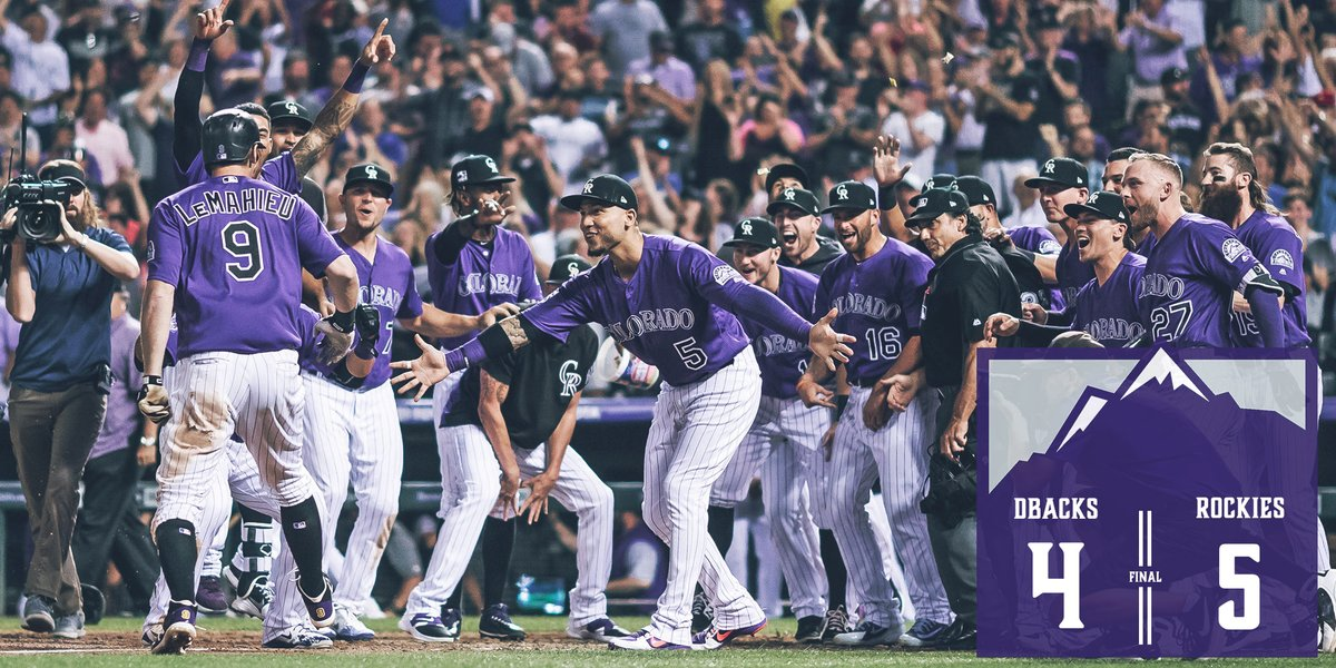 DJ LeMahieu rebate walk-off HR e Rockies vencem Diamondbacks
