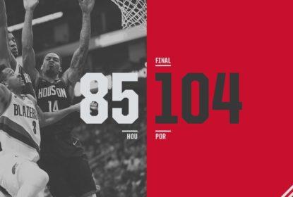 Com Harden fora, Blazers dominam do início ao fim e vencem Rockets no Texas - The Playoffs