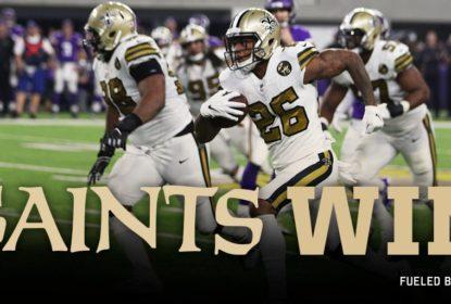 Saints vencem Vikings no SNF e seguem líderes da divisão sul da NFC - The Playoffs